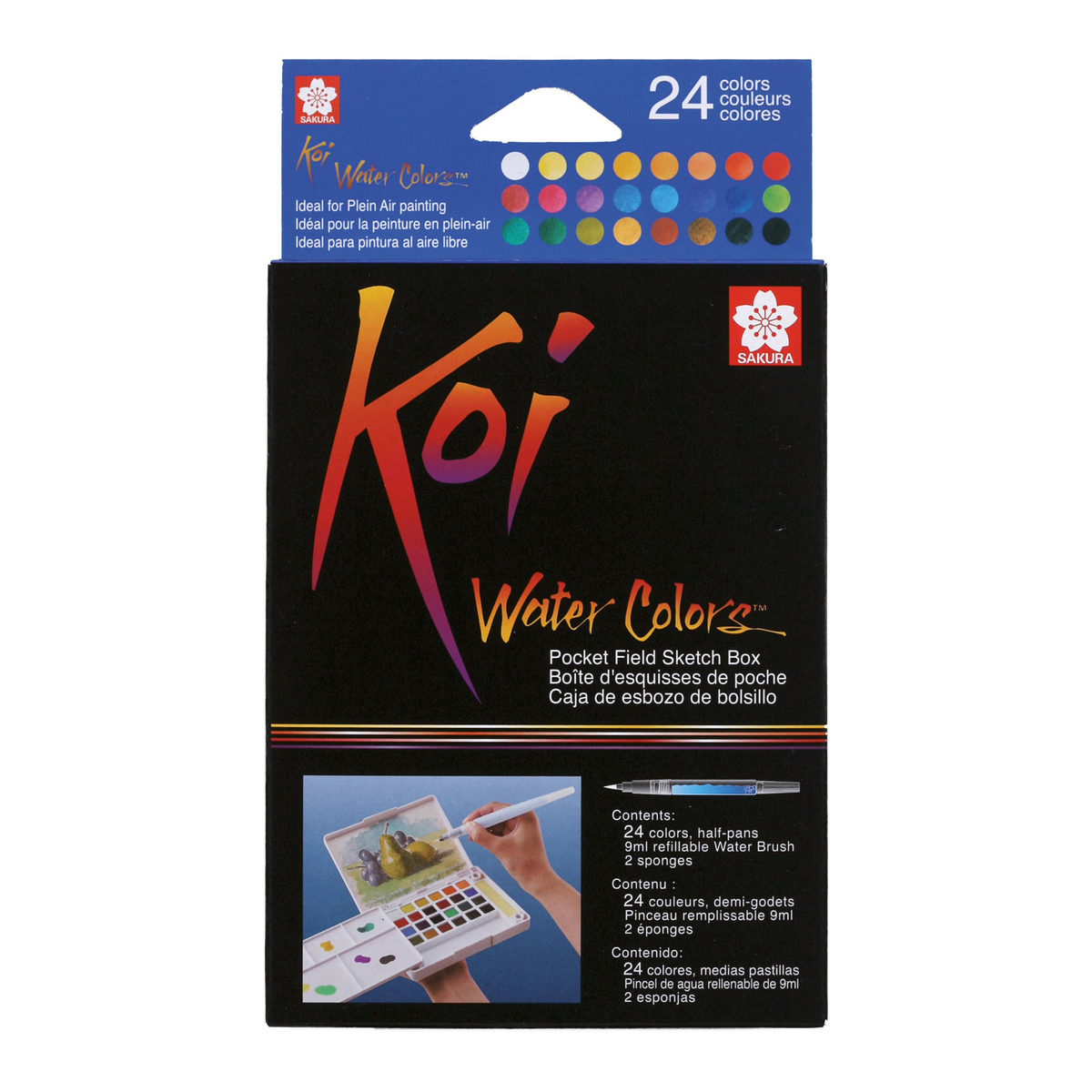 Koi Water Colors sketch box 24