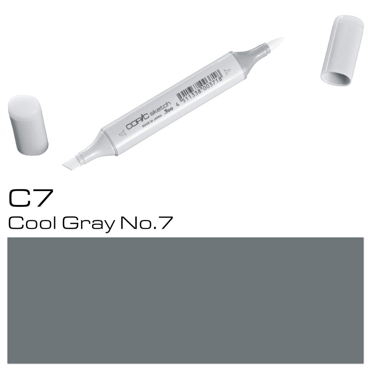 Copic Sketch C 7 cool gray