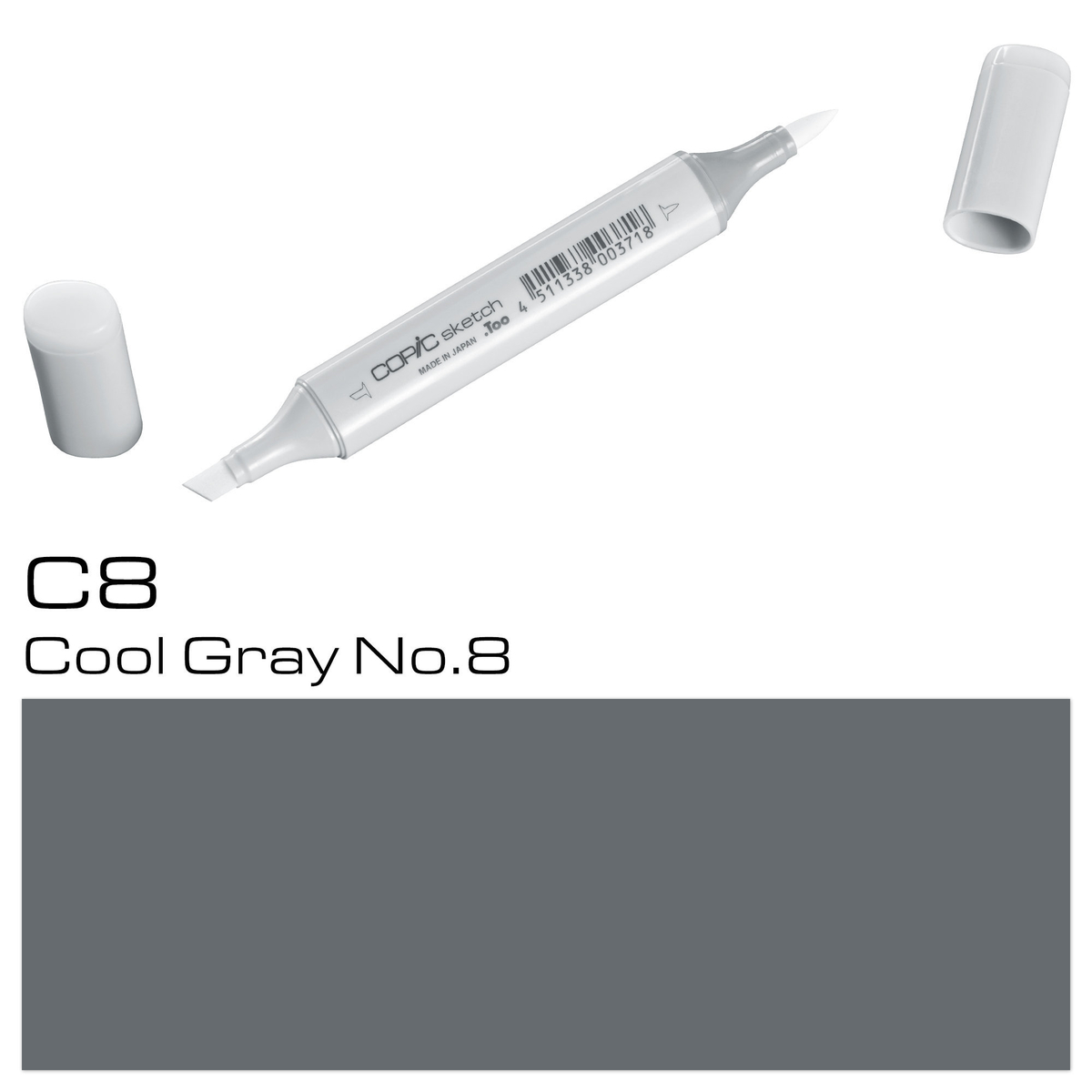 Copic Sketch C 8 cool gray