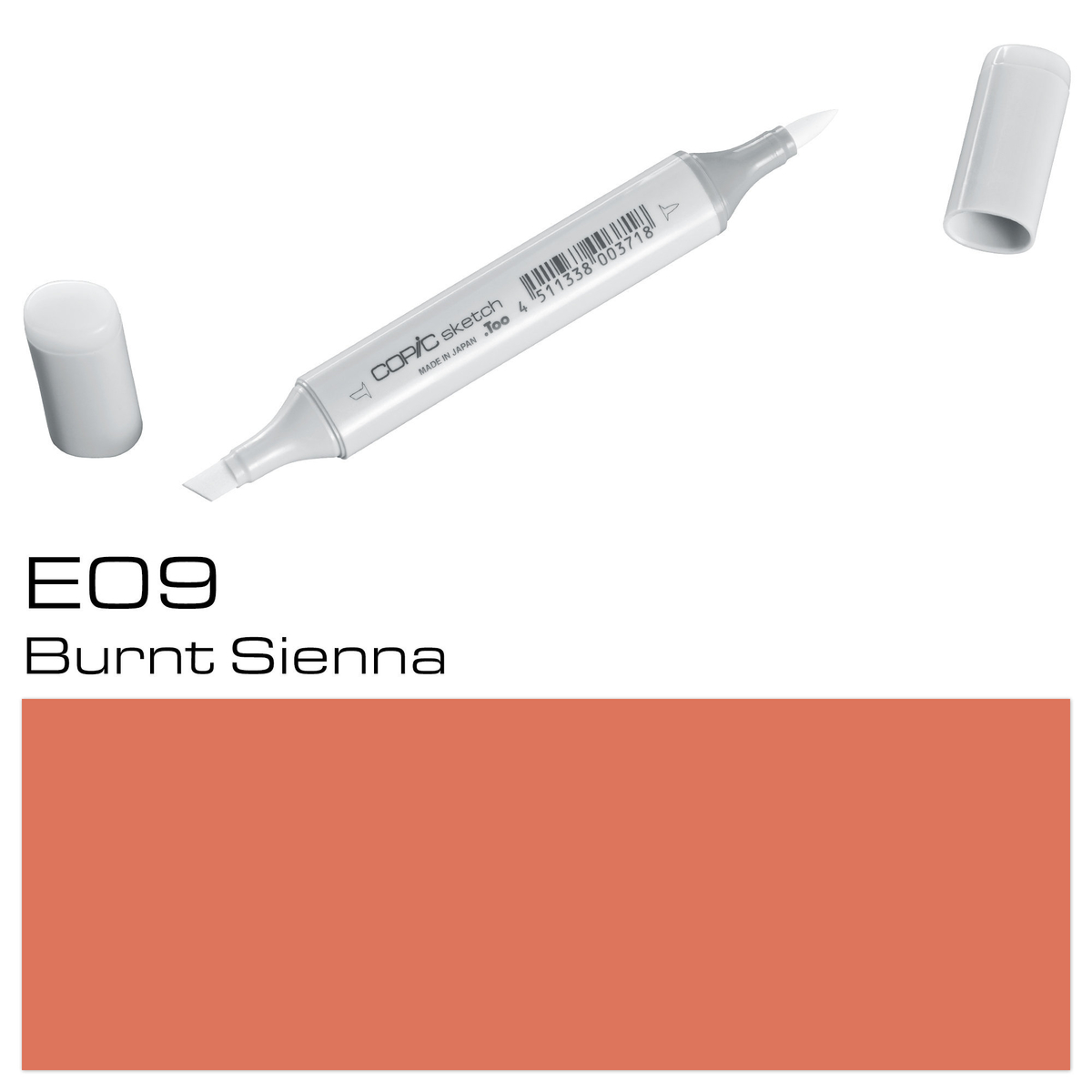 Copic Sketch E 09 burnt sienna