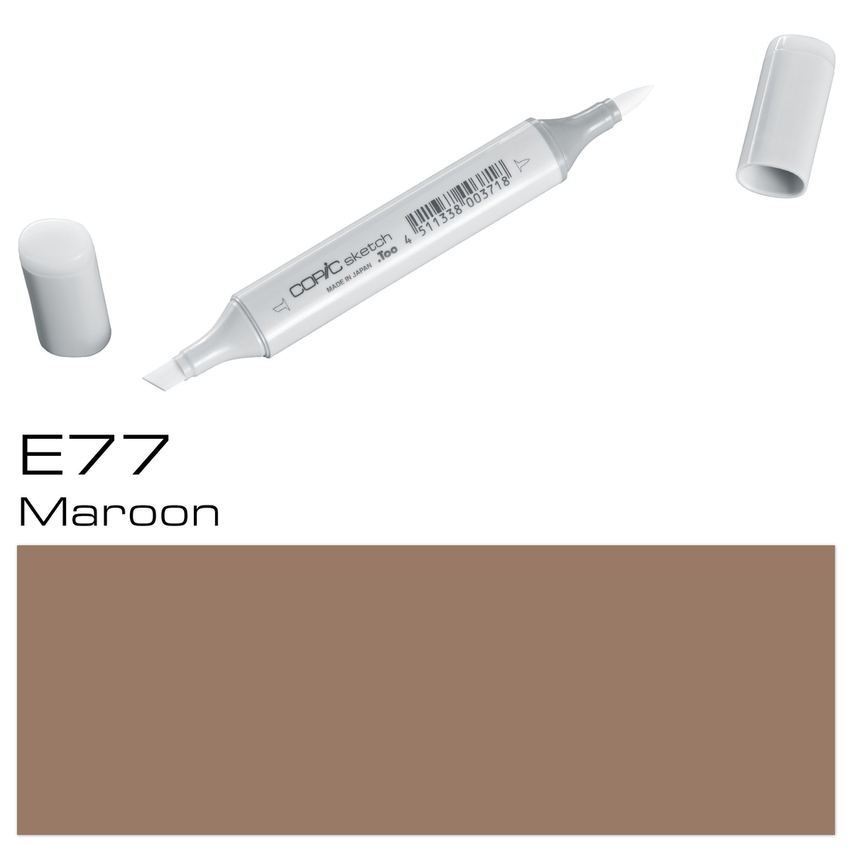 Copic Sketch E 77 maroon