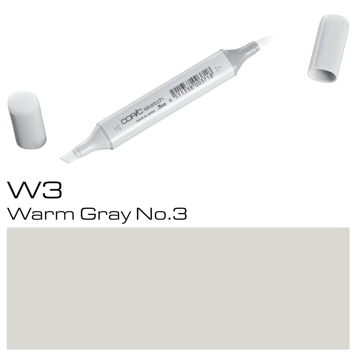 Copic Sketch W 3 warm gray