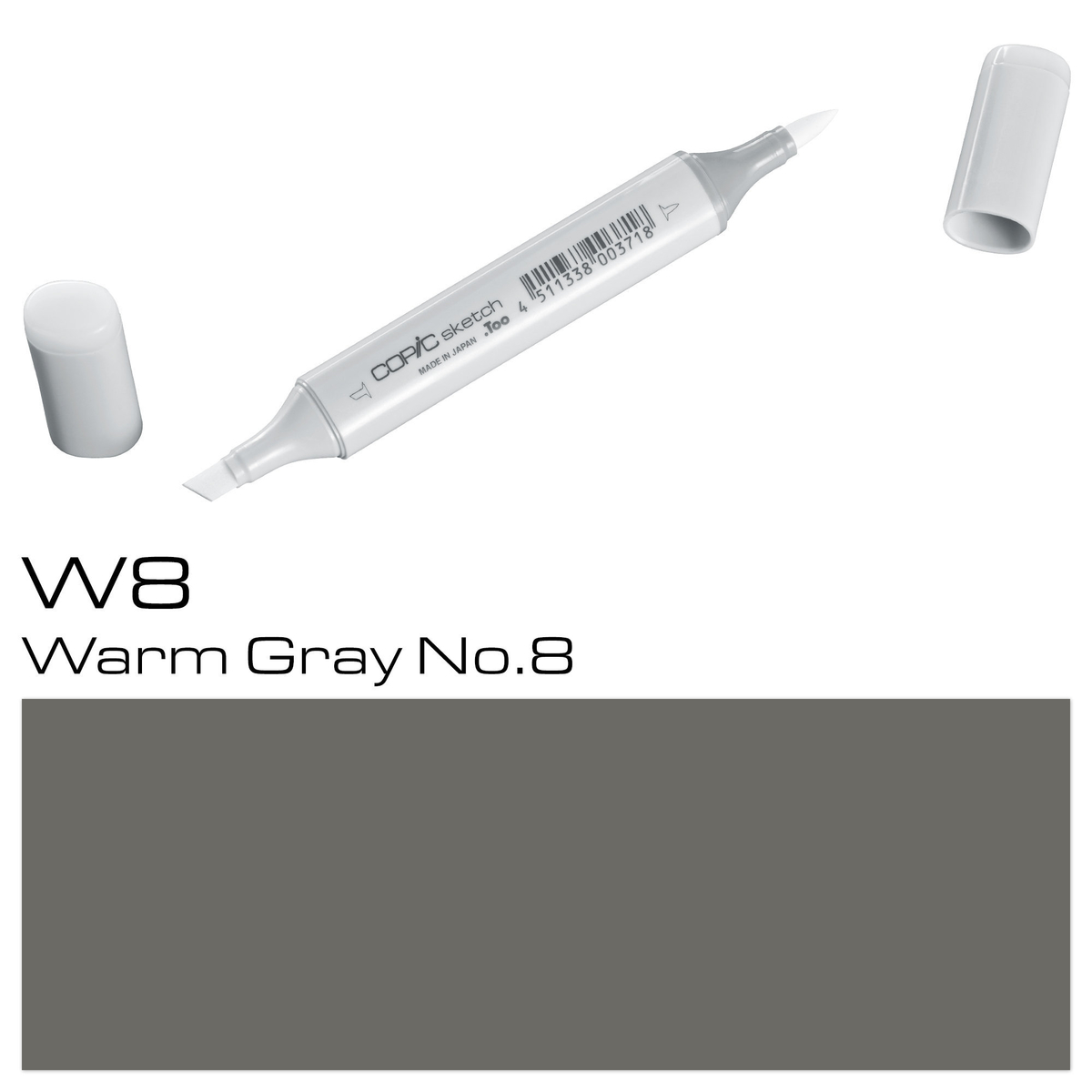 Copic Sketch W 8 warm gray