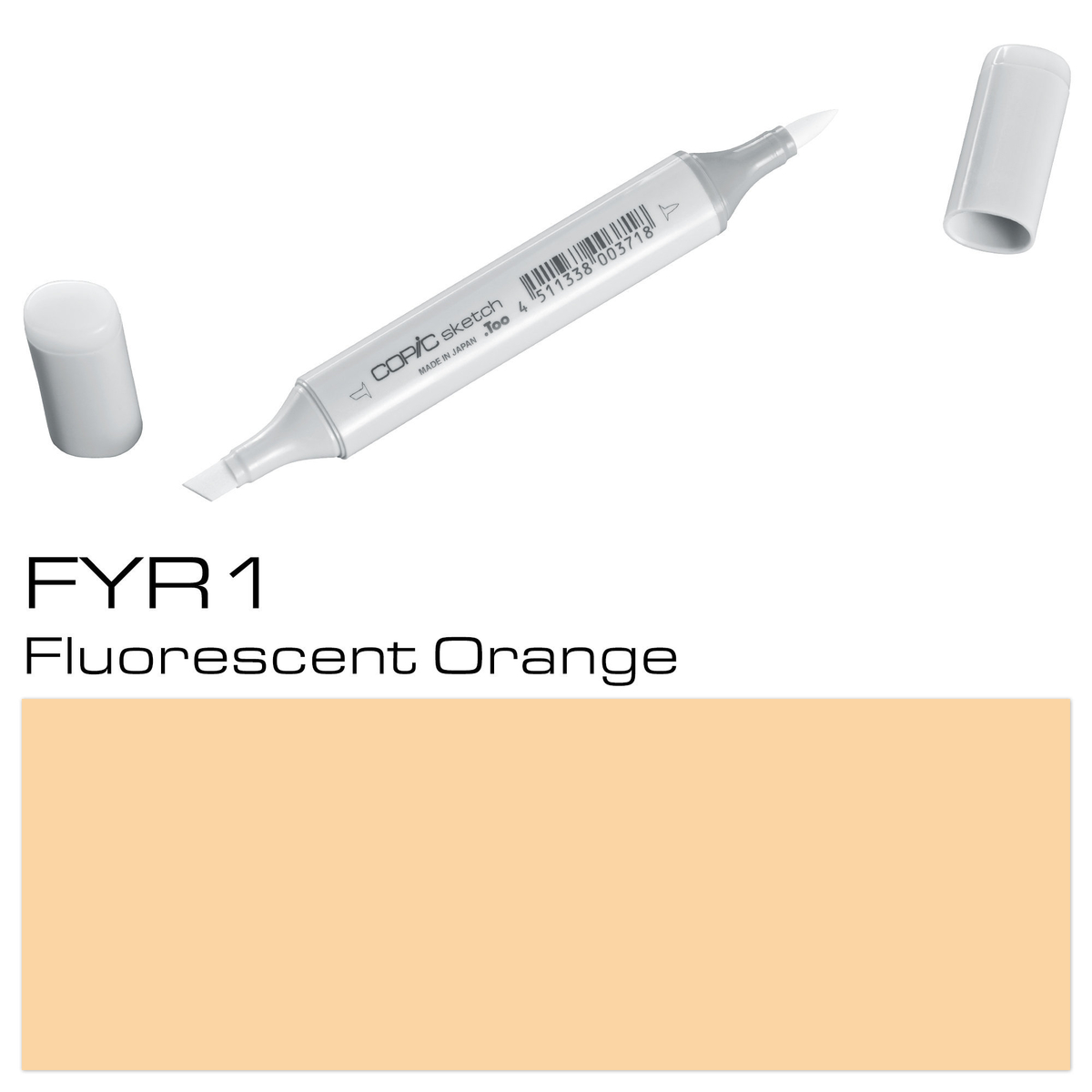 Copic Sketch FYR1 fluo orange
