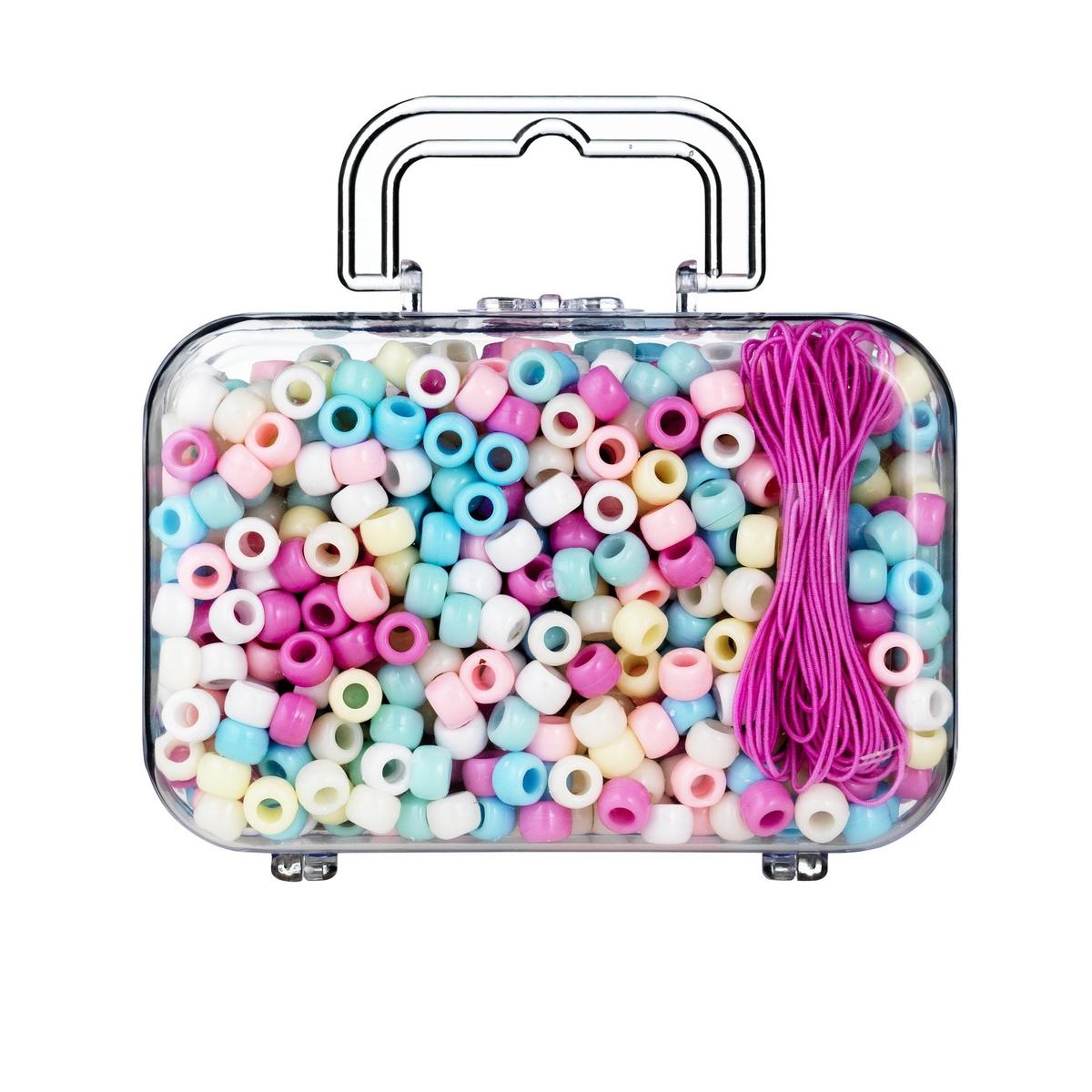 Väska pärlor ponybeads pastell