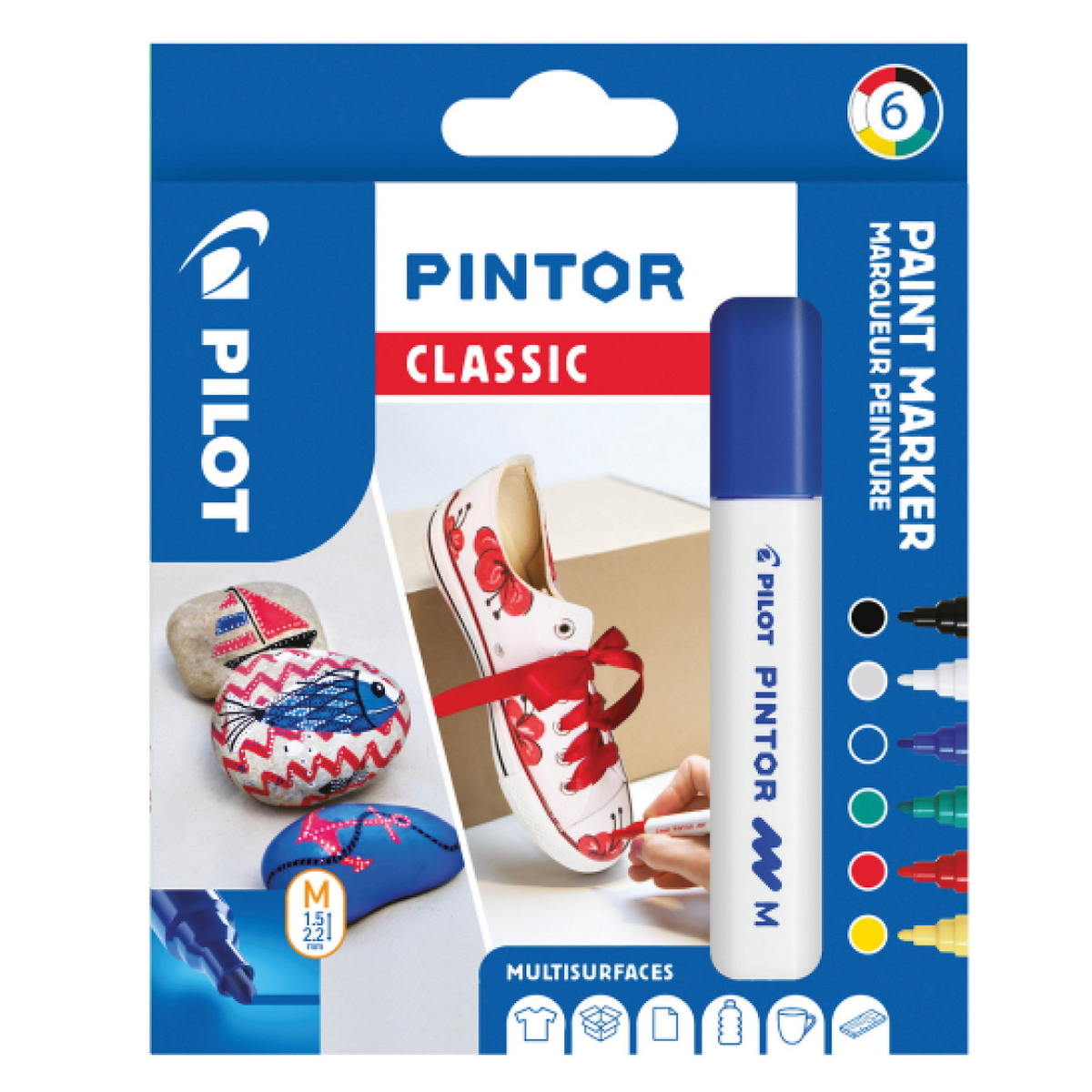 Pilot Pintor M Classic 6-pack