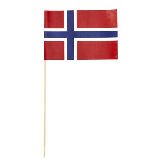 Flagga På Pinne Norge 3 St