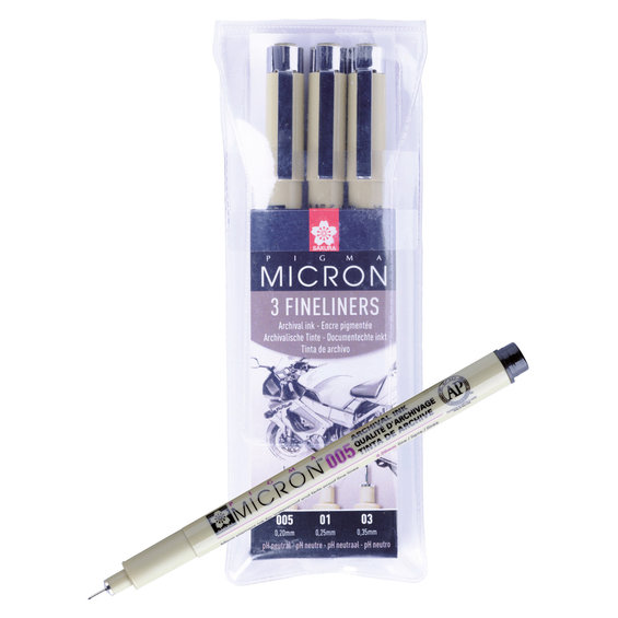 Pigma Micron set 3p 0,2-0,35mm