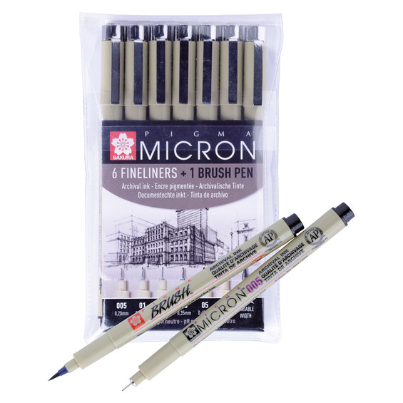 Pigma Micron set 6+1 Black