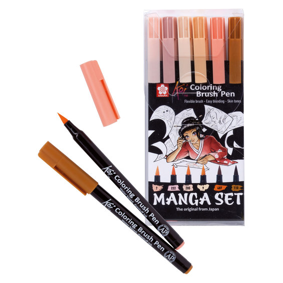 Manga Koi C.Brush Pen set 6st