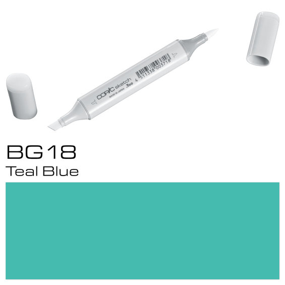 Copic Sketch BG18 Teal Blue