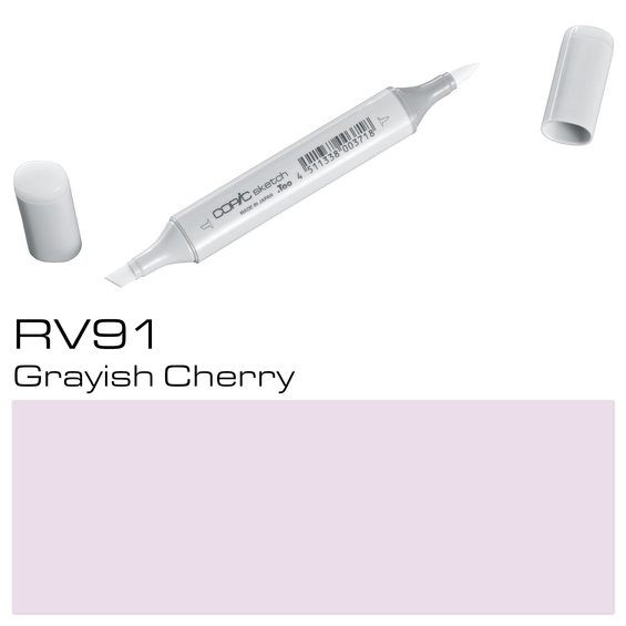 Copic Sketch RV91 Gray. Cherry