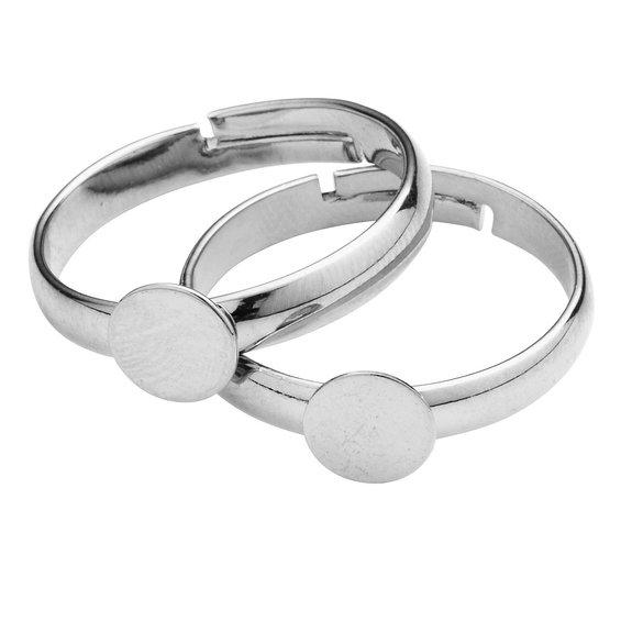 Ringstomme silverfärgad 2 st 58ecf7a439608