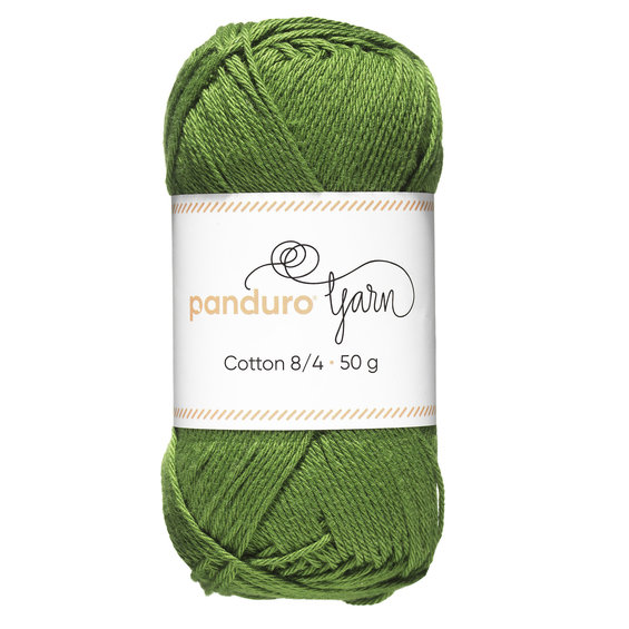 Garn Cotton 8/4 50g grön