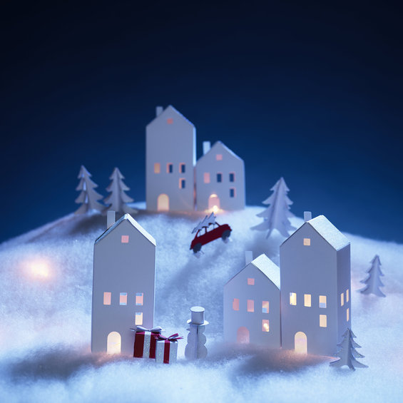 DIY Winter Village LED kit 13p