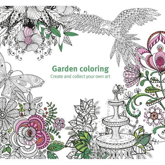Målarbok Garden Coloring
