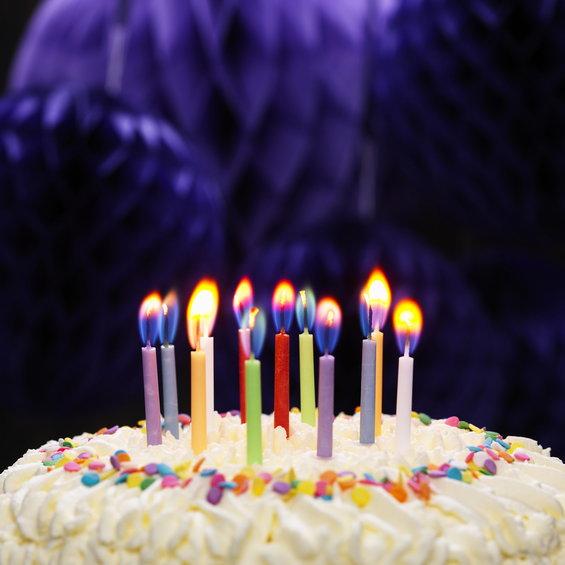 Färgskiftande tårtljus 12p