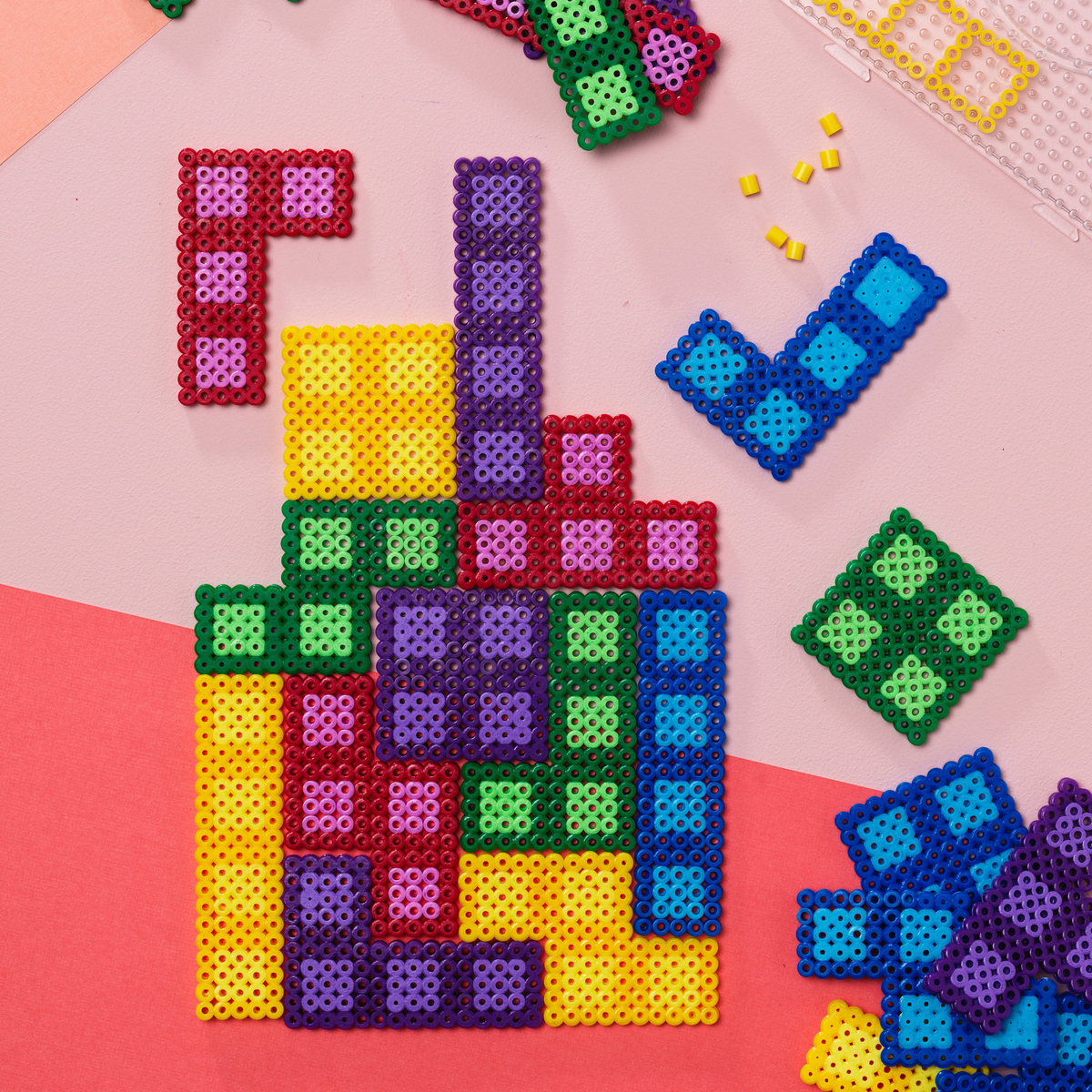 Make a beaded tile game