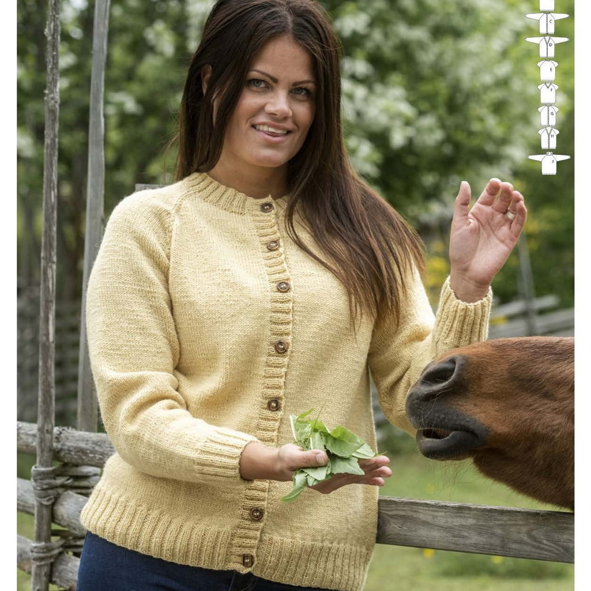 Knit a cardigan and jumper in different styles