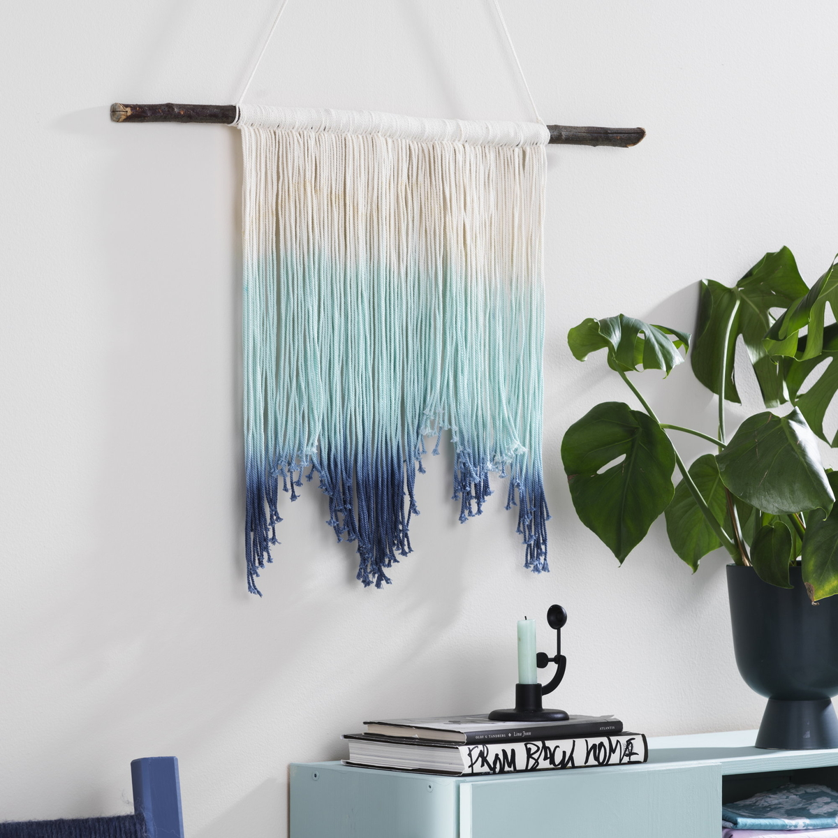 Dye a gorgeous wall hanging