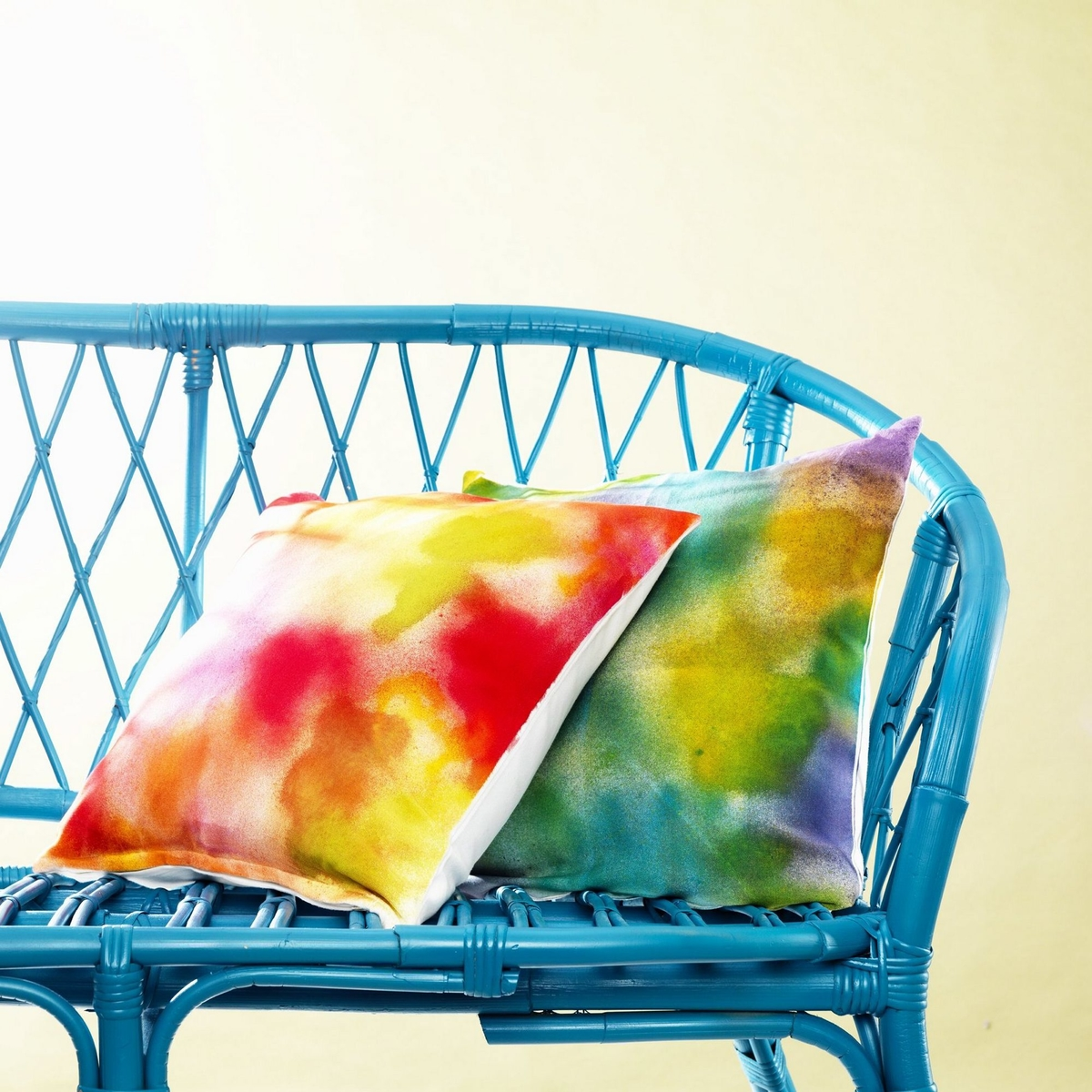 Fabric paint on cushions