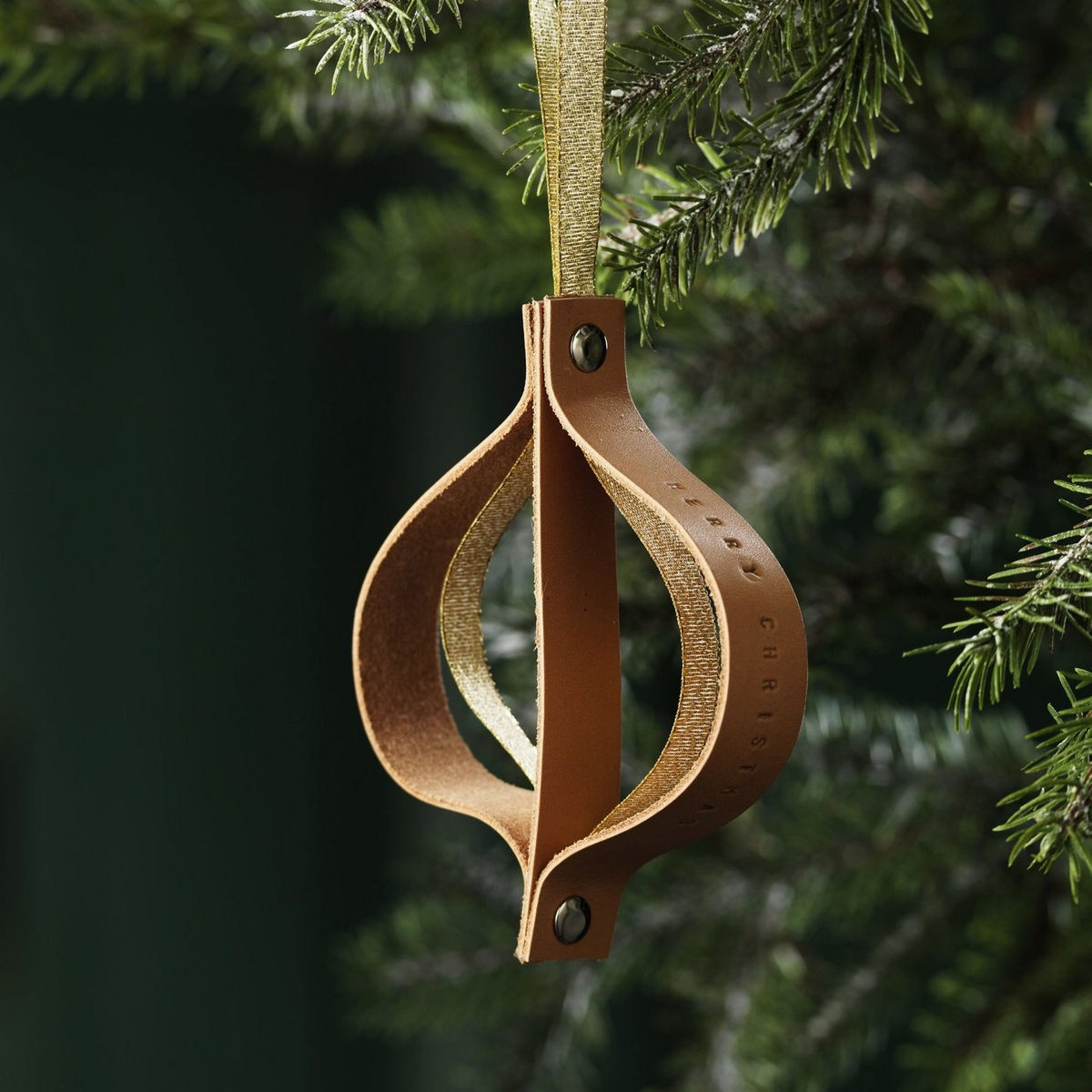 Leather Christmas ornament