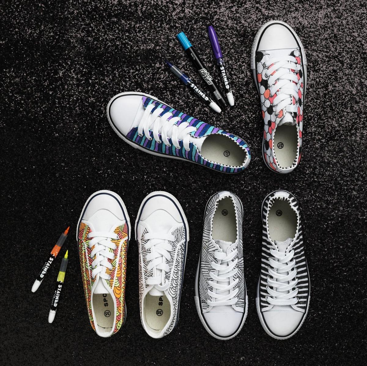 färga skor med textilfärg