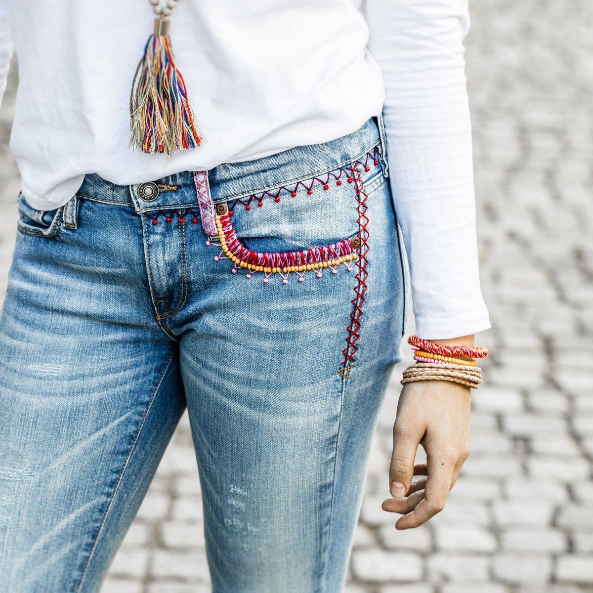 Make your own BOHO style jeans