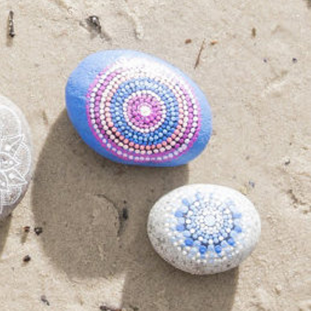 Collect and paint stones this summer!