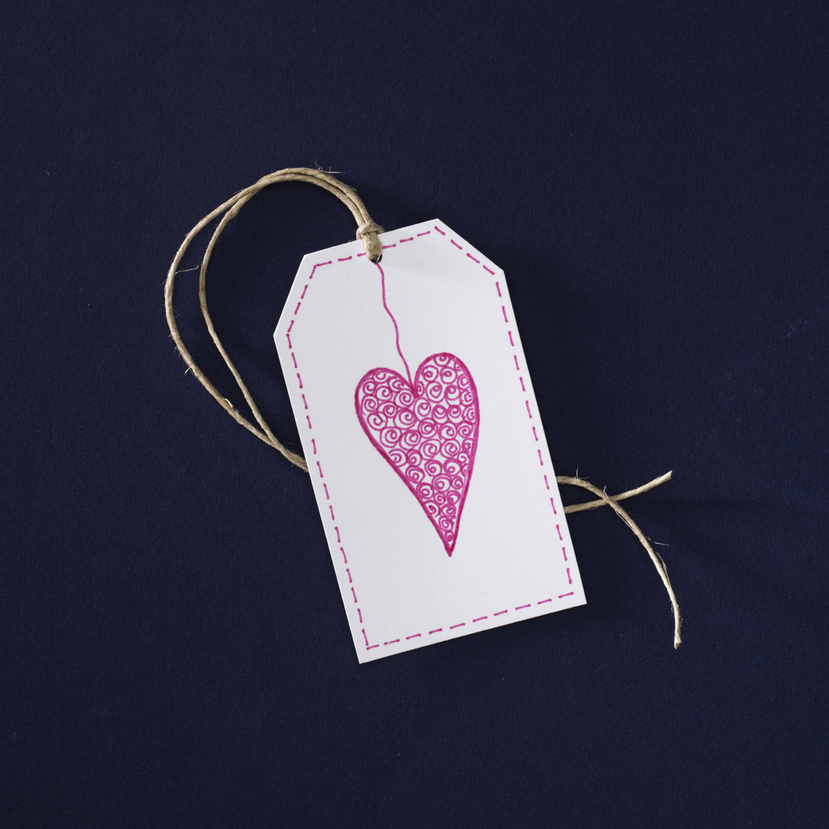 Draw heart-felt tags