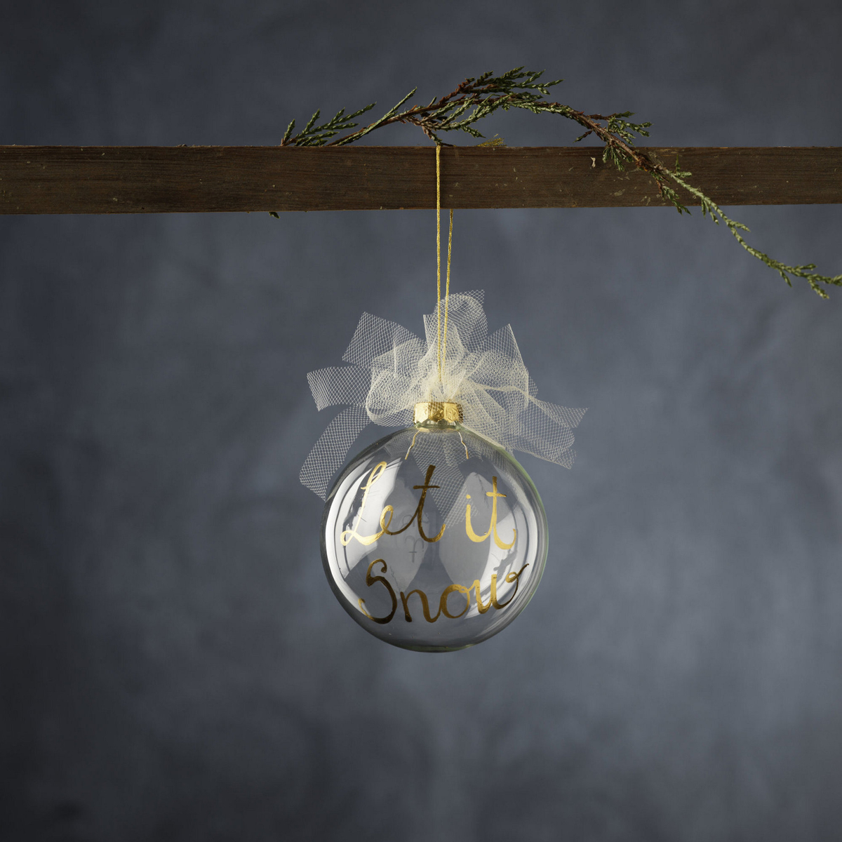 Sheer Christmas baubles