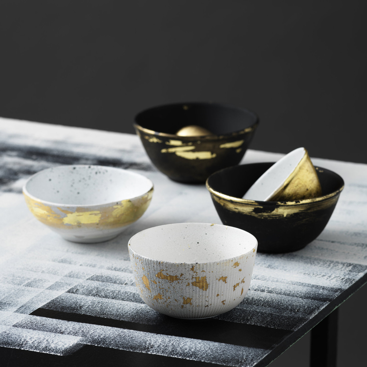 Gold-lined bowls