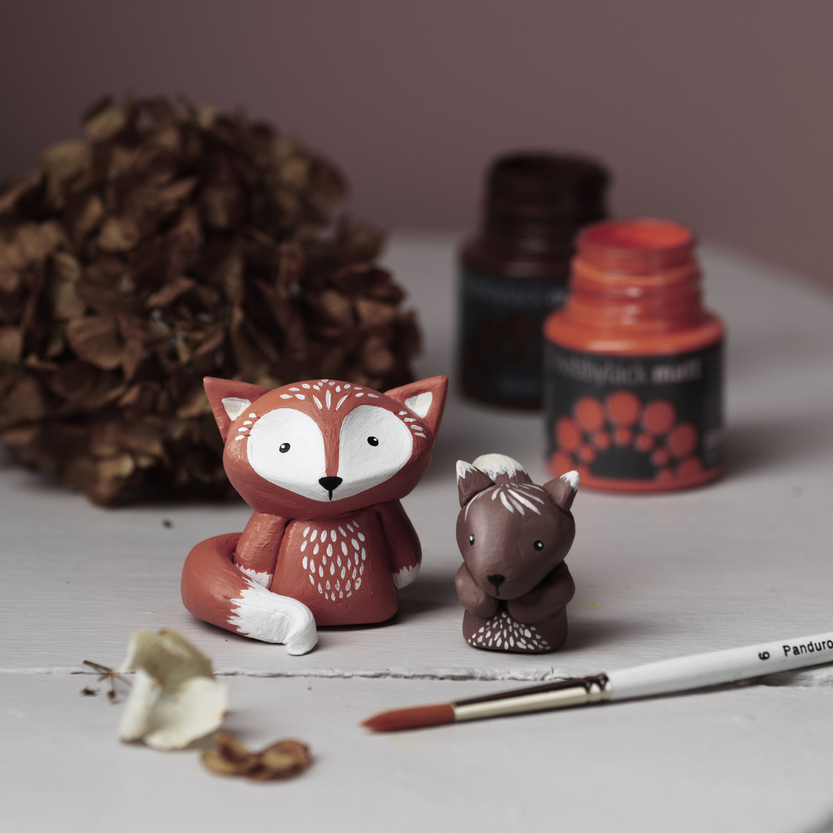 Sculpt adorable forest animals in clay