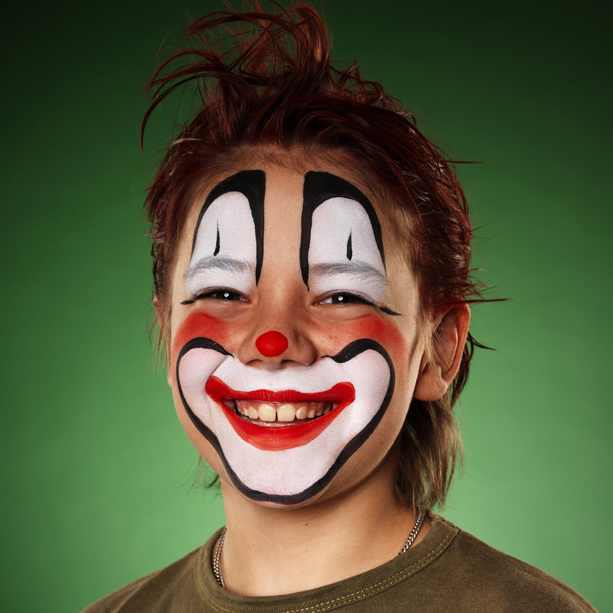 Silly clown face painting
