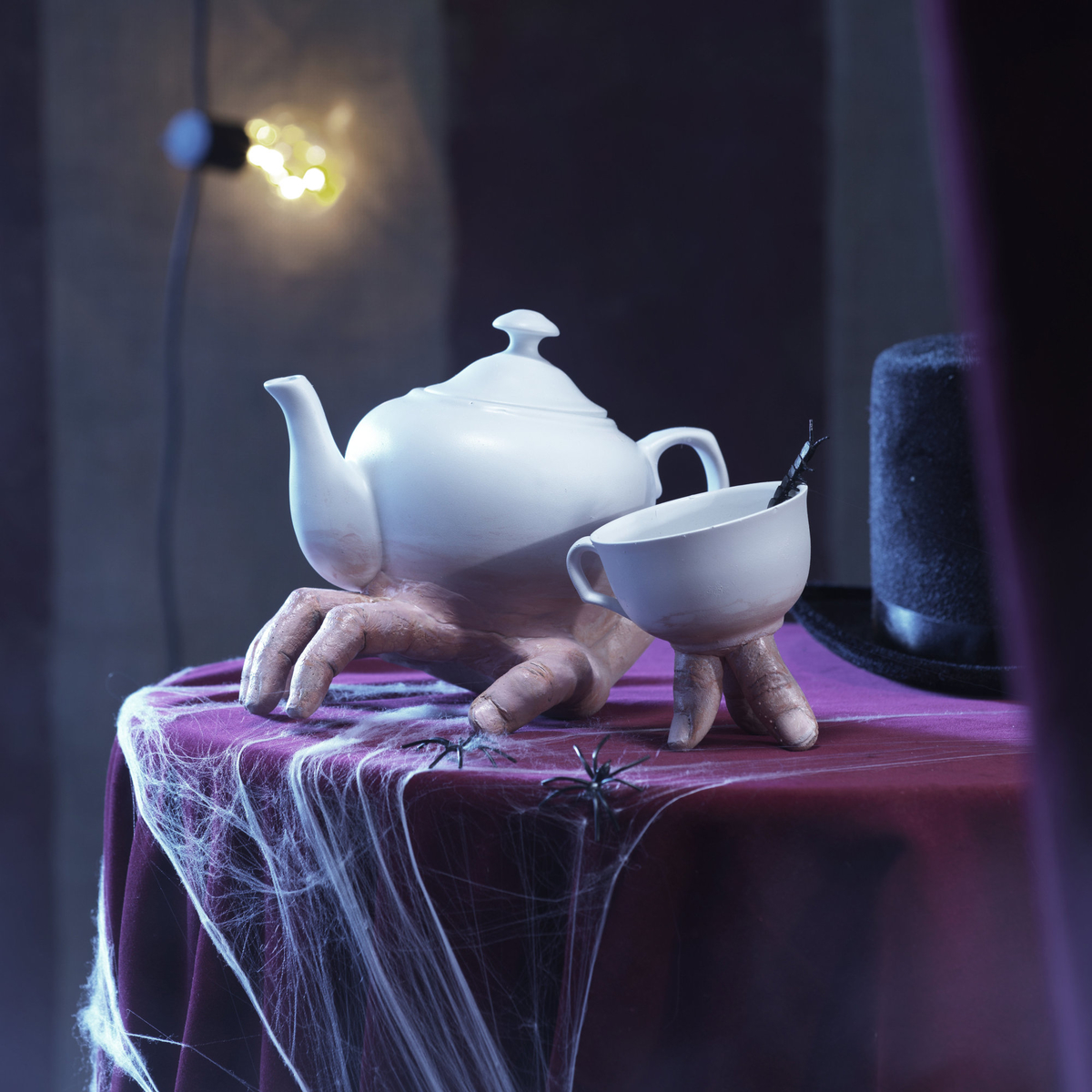 Make a gruesome Halloween tea set
