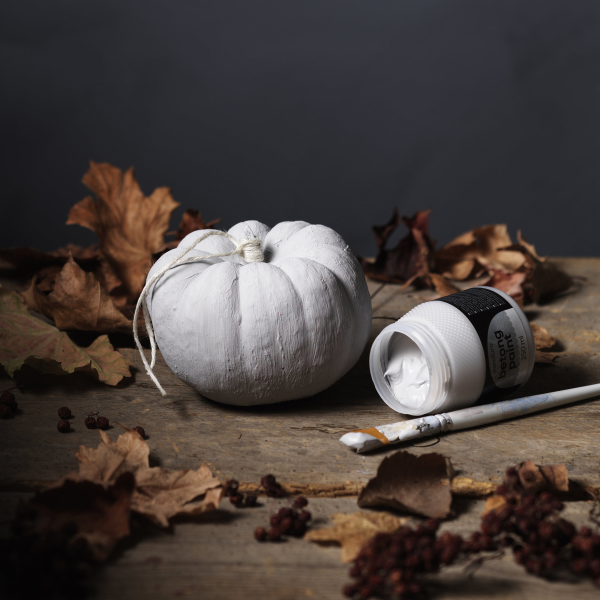 Make a concrete pumpkin
