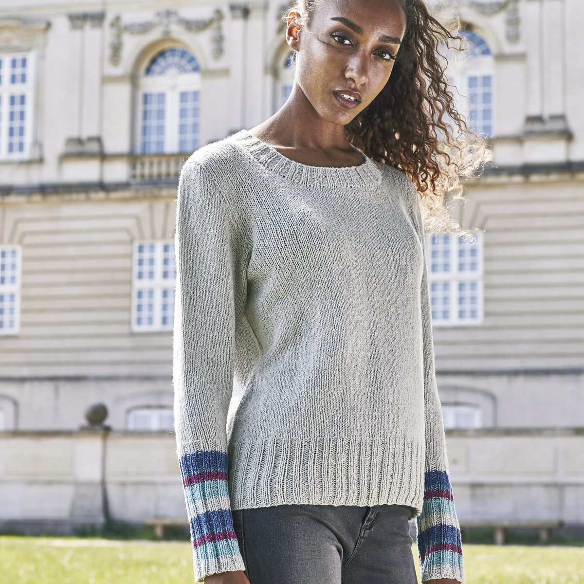 Knit a jumper with stripes