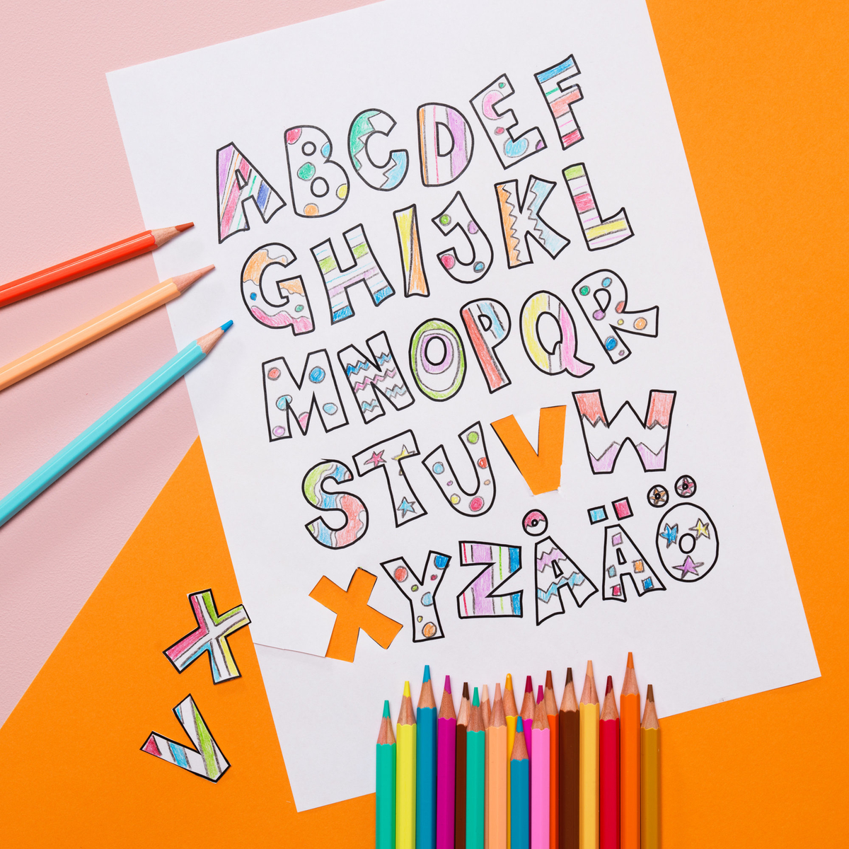 Draw and learn the alphabet